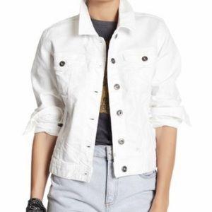 Cute White Denim Jacket